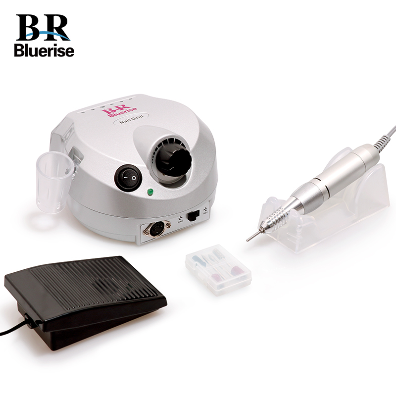 BLUERISE Powerful 35000 RPM Professional Electric Nail Drill Machine Manicure Pedicure Kits File Drill Nail Salon Nail Tools excellet value 1 pc blue medium 3 32 white ceramic nail drill bit manicure professional electric manicure cutter nail tools
