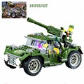 Century Military WW2 IronHorse Jeep Vehicle Model Building Blocks Military Tank Figures Bricks Educational Toy For Boy Gift