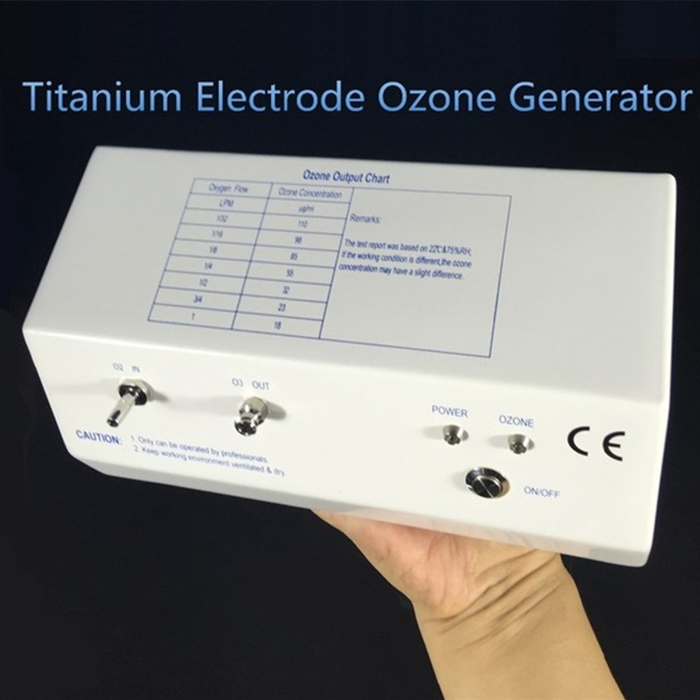 Generatore medico di ozono, generatore di ozono a scarica corona con elettrodo in titanio a lunga durata 18-110ug / ml