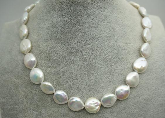 100% bijoux en perles réelles, 18 pouces AA 13-14 MM couleur blanche collier de perles d'eau douce, fête des femmes, amour, cadeau de fête des mères