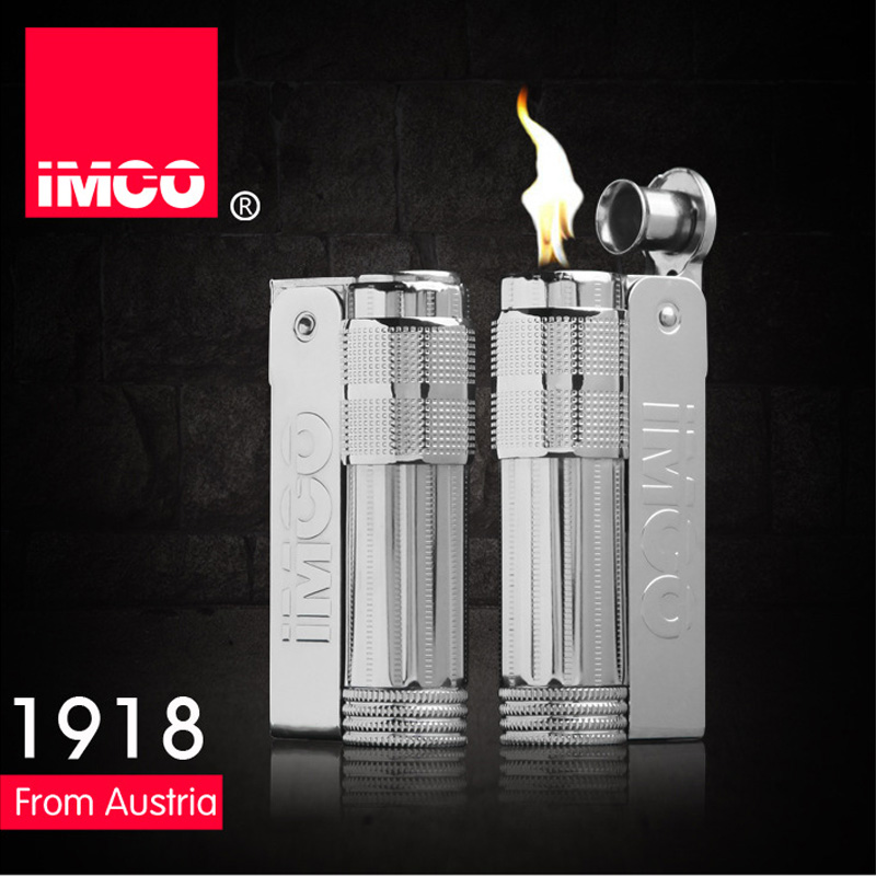 Genuine IMCO Lighter Stainless Steel Petrol Lighter Original Oil Gasoline Cigarette Lighter Cigar Fire Smoker Creative Gift