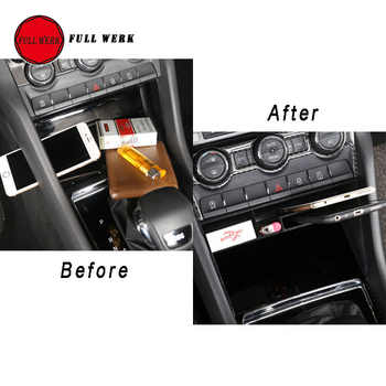 1 PC ABS Car Styling Central Console Storage Box Phone Card Wallet Organizer Holder for Skoda Kodiaq Interior Accessories