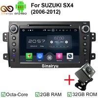 MJDXL HD 1024 600 Octa Core Android 6 0 Fit SUZUKI SX4 2006 2012 Car DVD