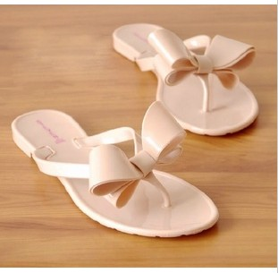 3aec761a942f79 Big bow flip slippers flip flops candy color women s sandals flat jelly  shoes crystal shoes flat shoes-in Women s Sandals from Shoes on  Aliexpress.com ...