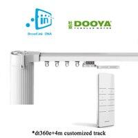 Broadlink dna dooya wifi cortina motor + 4 m customizável de alumínio janela elétrica cortina trilha haste trilho ios android remoto