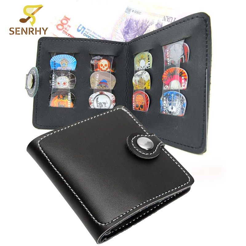 Guitar Picks Wallet Pick Bag Plectrum Case Thickened Imitation Leather to Install Up to 12 pcs Guitarra Picks Guitar Accessories