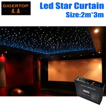 Fireproof 2M*3M Light Curtain  Led Star Curtain 90V-240V RGBW Color,LED Star Cloth Wedding Backdrops Led Curtain Iron O Ring