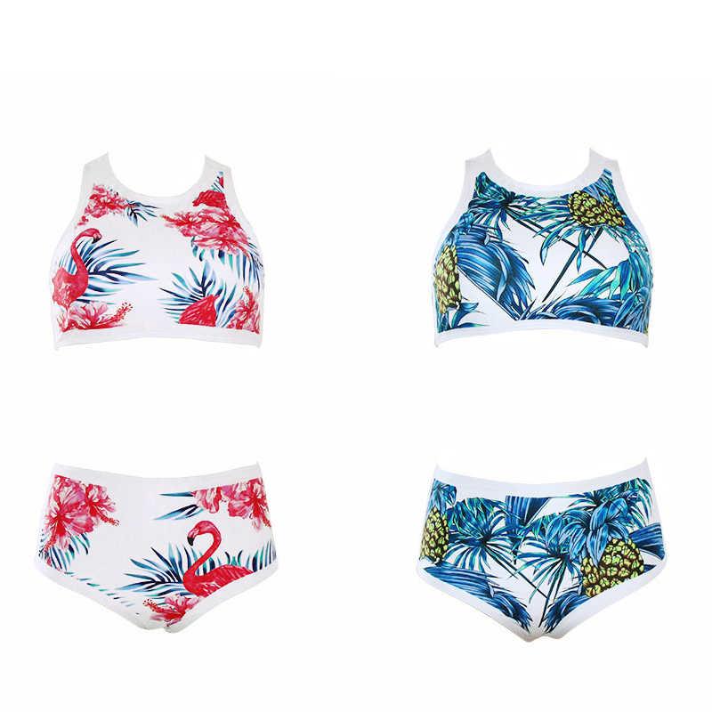 f7a3e151aa52b2 sexy top swimwear girls bikini swimwear women high waist push up swimsuit  ladies' bikini flower