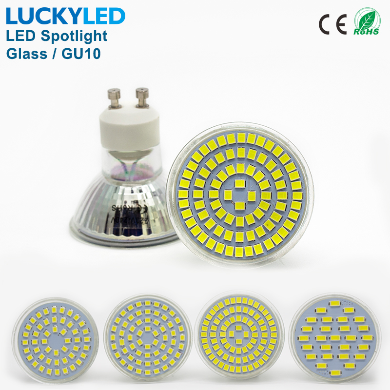 LUCKYLED Brand Bombillas LED bulb Spot light 3W 4W 5W 6W SMD 2835 / 5730 GU10 led Spotlight AC110V 220V for home Lampada lamp msled l04 g4 4w 130lm 6500k 5 smd 3030 led white light spot beam bulb ac dc 12v