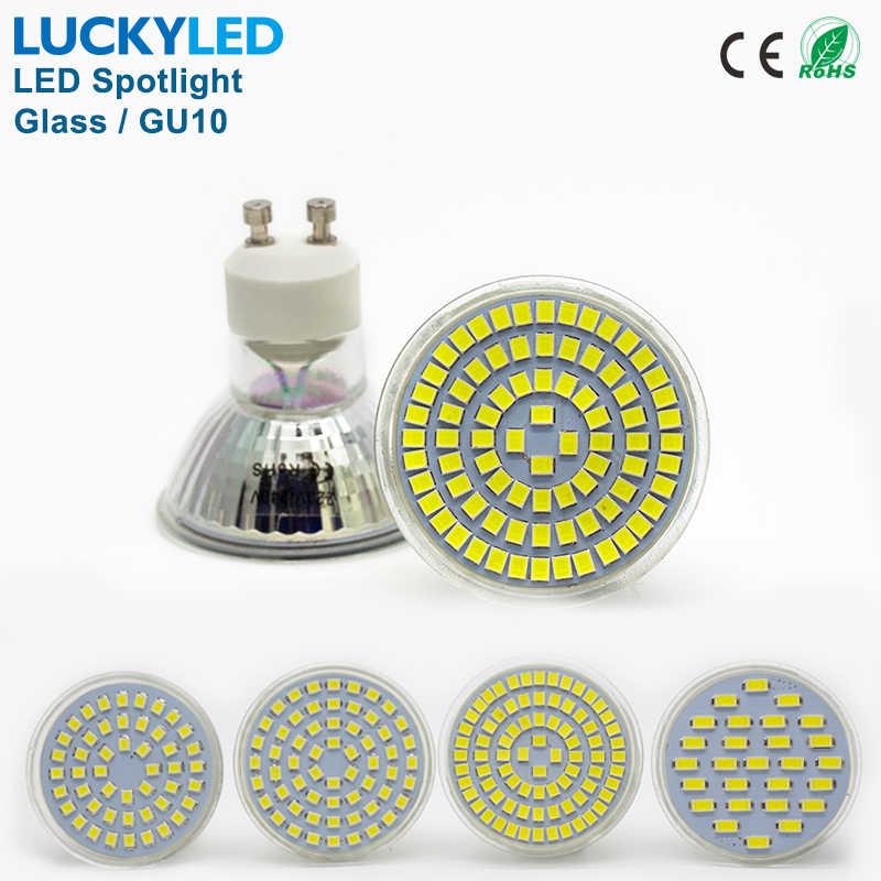 LUCKYLED Marca Bombillas LED Spot light bulb 3 W 4 W 5 W 6 W SMD 2835/5730 GU10 led Spotlight Lampada luz AC110V 220 V para casa