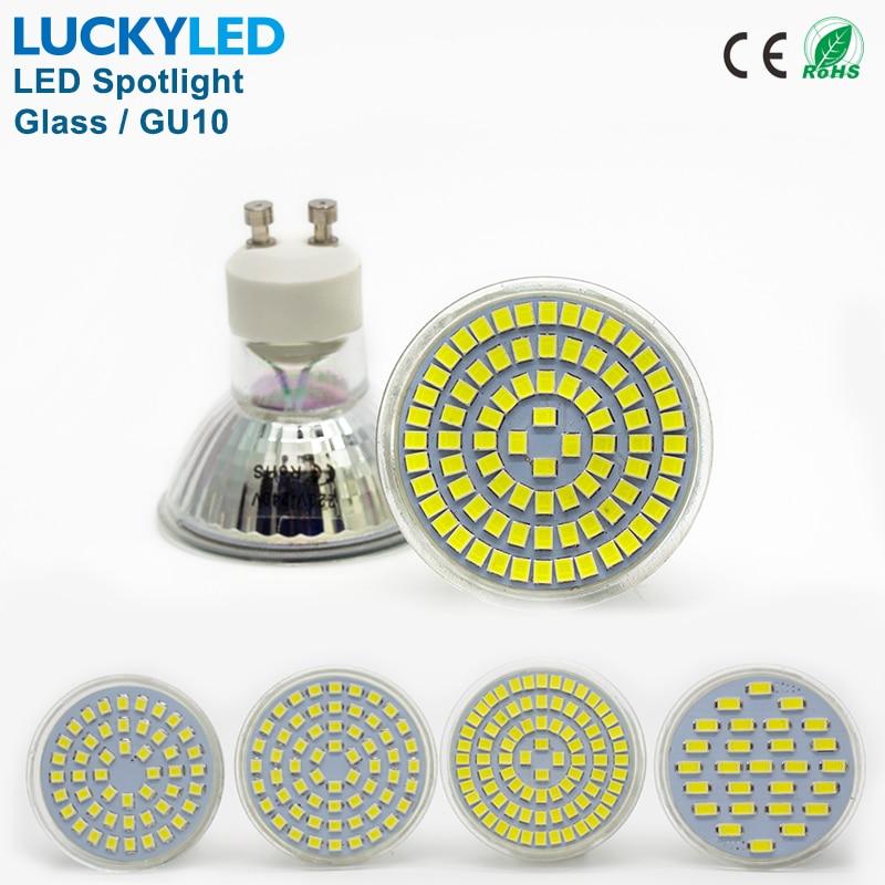Luckyled бренд Bombillas светодиодные лампы пятно света 3 Вт 4 Вт 5 Вт 6 Вт SMD 2835/5730 GU10 светодиодный прожектор AC110V 220 В для дома лампада лампа