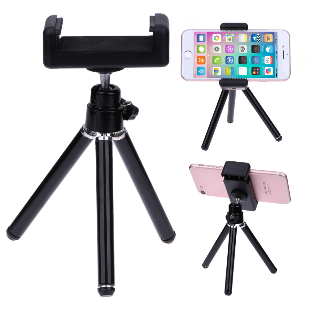 Alloet 1pcs 360 Rotatable Tripod Phone Holder Stand Bluetooth Tripod Monopod With Shutter For Sumsung Huawei oppo Phone