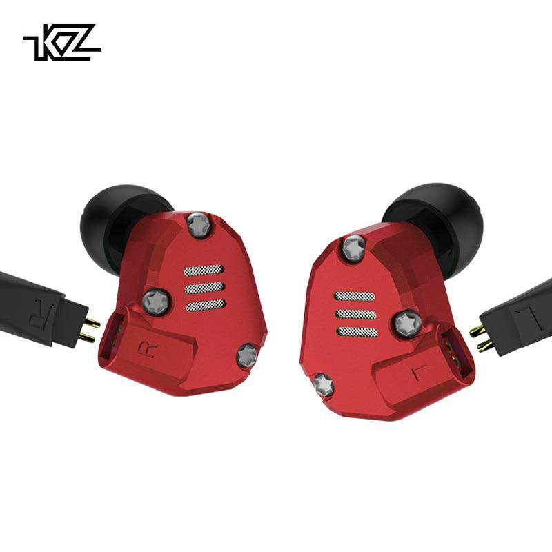 KZ ZS6 Métal Écouteurs 2DD + 2BA Hybride Dans L'oreille Écouteurs HIFI Casque Amovible Bluetooth Mise À Niveau Câble Huit Pilote Casque