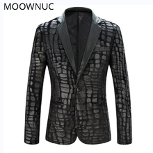 цена на Blazers Black Stage Costumes Fashion Coat Brand Spring Casual Suit New Thin Section Men Male Slim Fit MOOWNUC Personality Fit