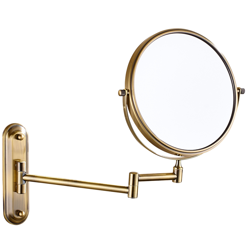 Gurun Magnification Cosmetic Makeup Mirror Wall Mounted 10X Magnifier Double Side Vanity Enlarged Mirrors Anqitue Bronze