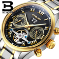 Schweiz BINGER herren uhr luxus marke Tourbillon sapphire leucht mehrere funktionen Mechanische uhr B8602-10