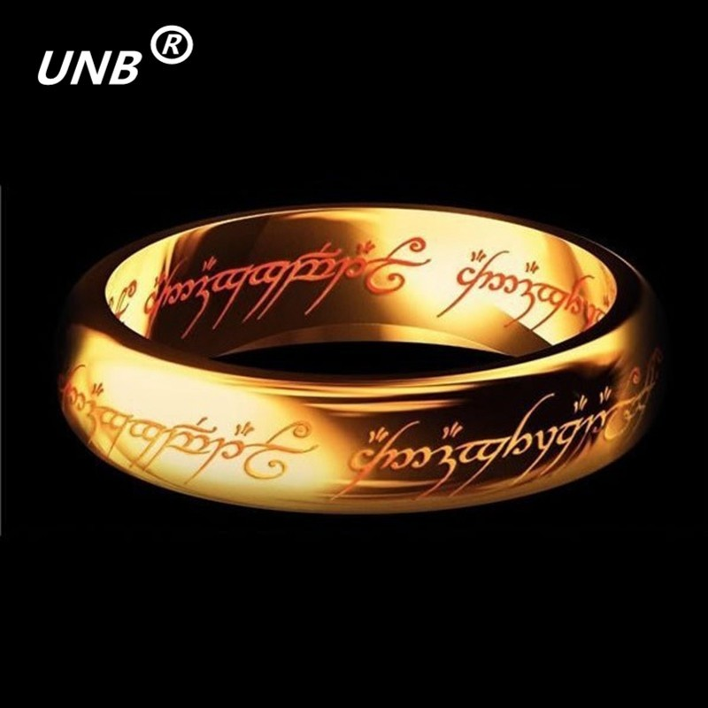 2016 Midi Ring Tungsten The One Rings of Power Gold Ring Lvers Women and Men Jewelry Wholesale Free Drop ship World of Warcraft