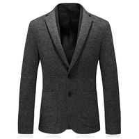 2018 fashion knitted wool men's blazers and suit jackets good quality winter mens slim fit blazer