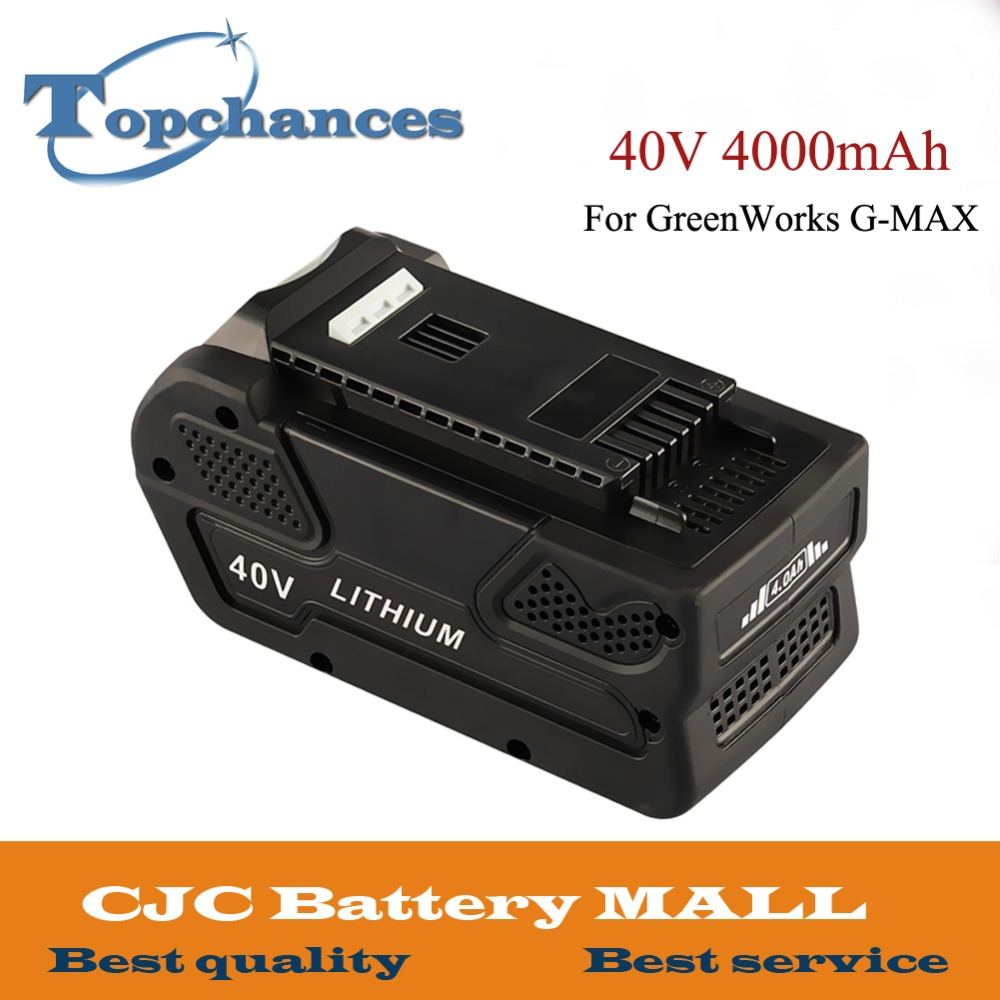 High Quality 40V 4000mAh Li-ion Battery for GreenWorks 40V G-MAX Power Tools 29252 20202 22262 25312 25322 22272(Not for Gen 1) 3 7v li ion battery replacement 330mah for ipod nano 7 7th gen with tools free shipping