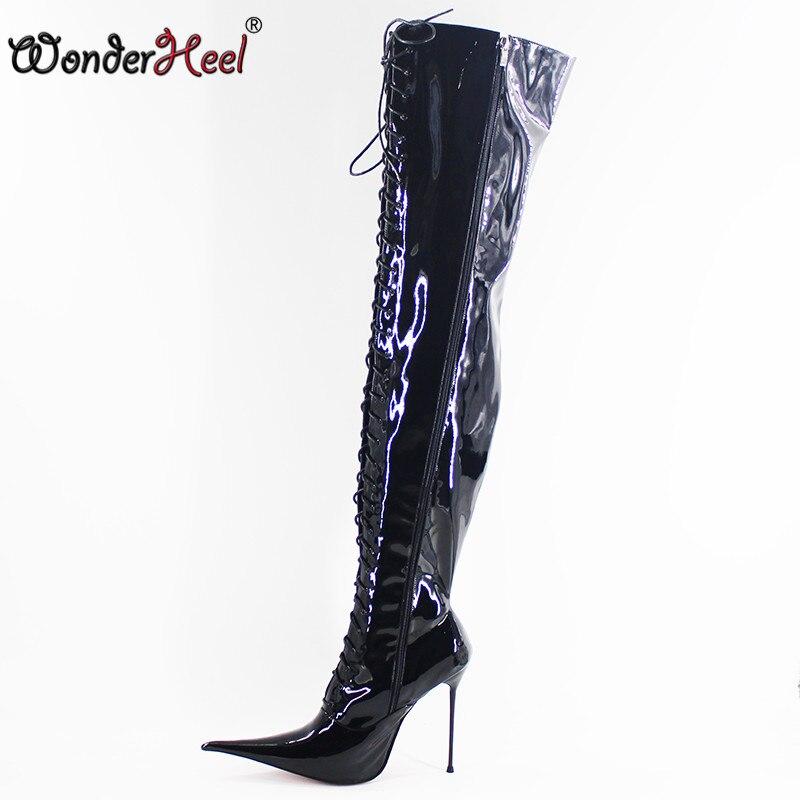 Wonderheel New 12cm 14cm 16cm stiletto heel super high heels extremely pointed toe ultra thin metal