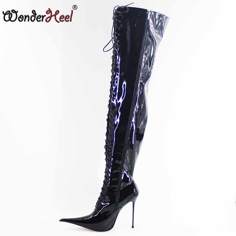 82ade99bfe44 Wonderheel New 12cm 14cm 16cm stiletto heel super high heels extremely  pointed toe ultra