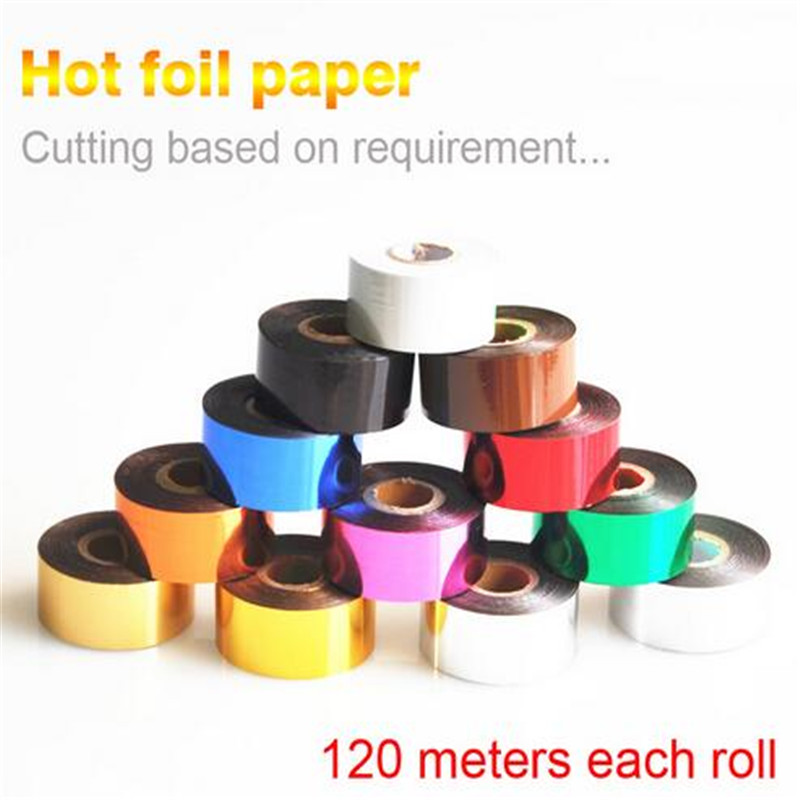 Best quality Foils Hot Stamping Paper Leather Hot Stamping 120 Meters According To Customers Arbitrary Cutting Width