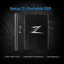 Netac Z1 USB 3.0 Super Speed 460/370MB/s Portable SSD External Solid State Drive ssd portable