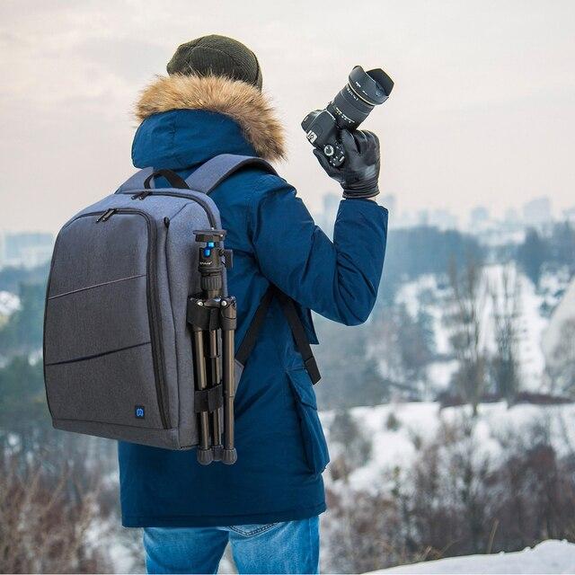 Waterproof DSLR Backpack With Charge Headphone Jack Video Digital DSLR Camera Bag Outdoor Camera Photo Bag for Nikon Canon Lens 10