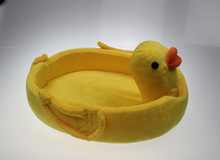 Cute dogs cats fashion yellow duck house products doggy warm soft kennels supplies puppy autumn winter