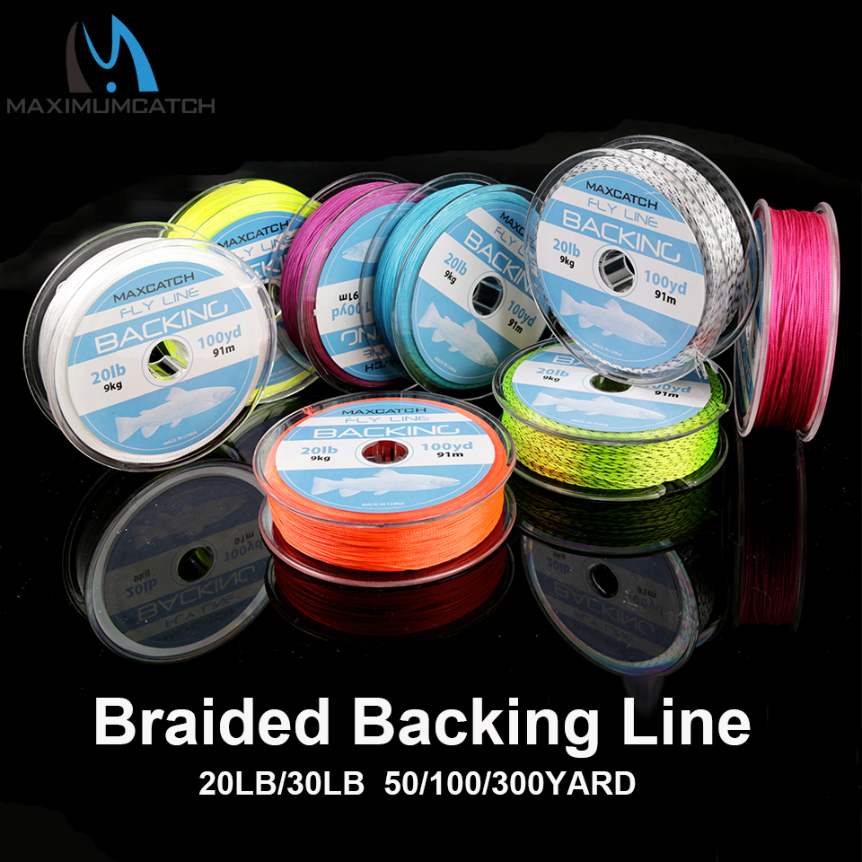 Maximumcatch Backing Fly Fishing Line 20/30LB 50/100/300Yards Backing Line Multi Color Braided Fly Line