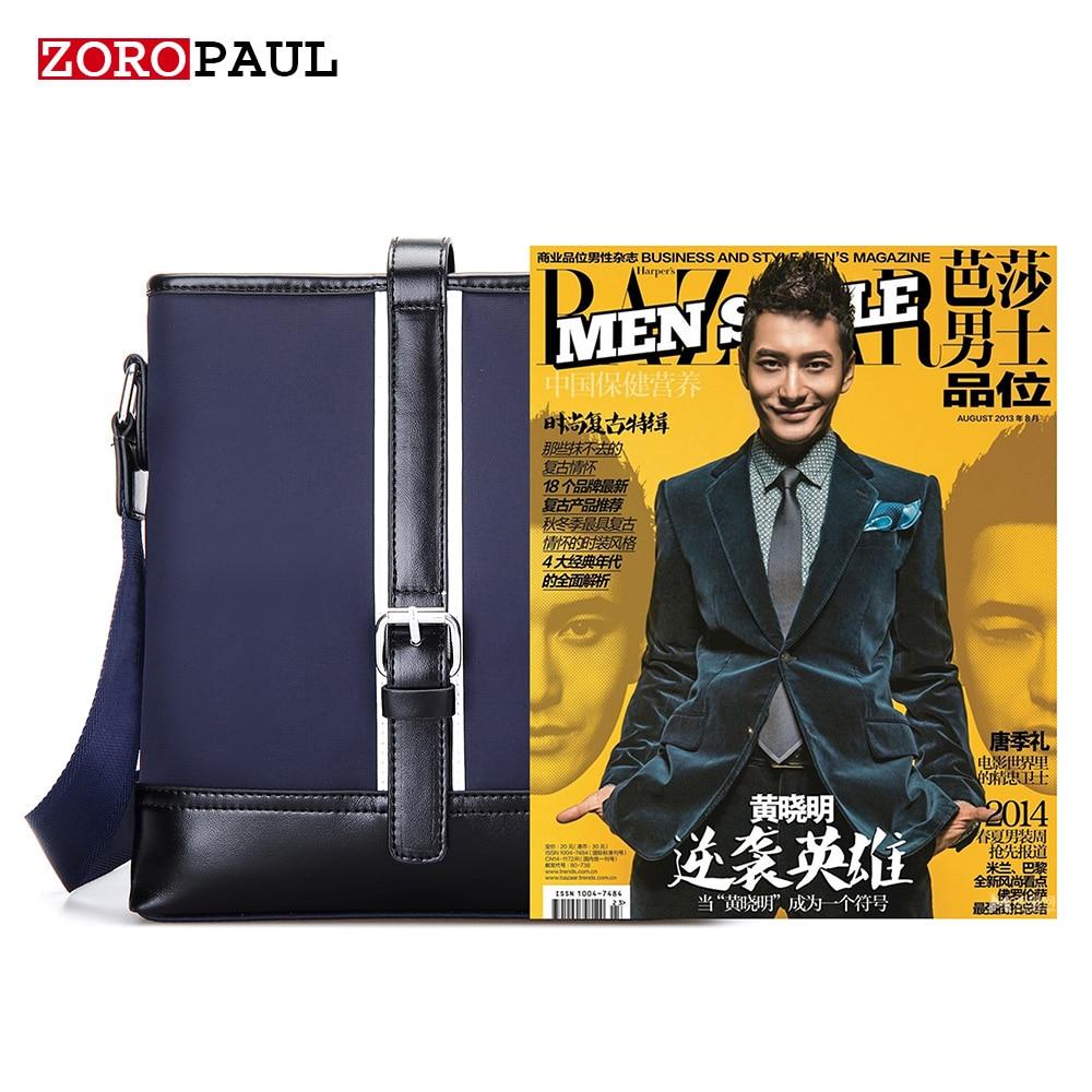 moda masculina bolsa do homensageiro Color : Black Blue