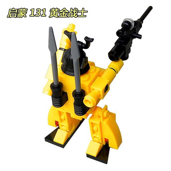 ENLIGHTEN 131 Golden warrior 3D DIY Figures Birthday Christmas Gifts Legoings toys for children educational building blocks