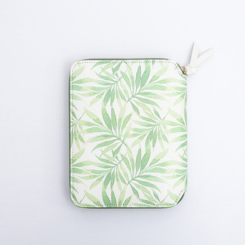Image 4 - Yiwi Original A6 Green Leaf Hobo Zip Bag Planner Creative Diary Notebook Office Supplies With Gift Box-in Notebooks from Office & School Supplies