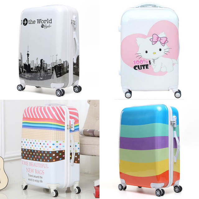 ca40df260a7c placeholder BeaSumore 20 inch Rolling luggage Spinner Women Trolley men Travel  Bag Student Carry On Children Kids