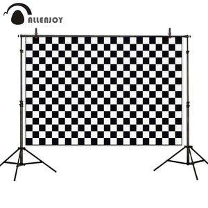 Image 1 - Allenjoy 신생아 아기 아이 photophone 배경 검정 흰색 체스 배경 photocall photozone photoshoot 사진 소품