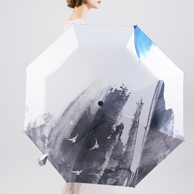 LIBERAINY оригинальный дизайн зонтик Chinoiserie китайский стиль WashPainting экзотическое Искусство Мода от дождя и солнца анти-УФ подарок тенденция раза