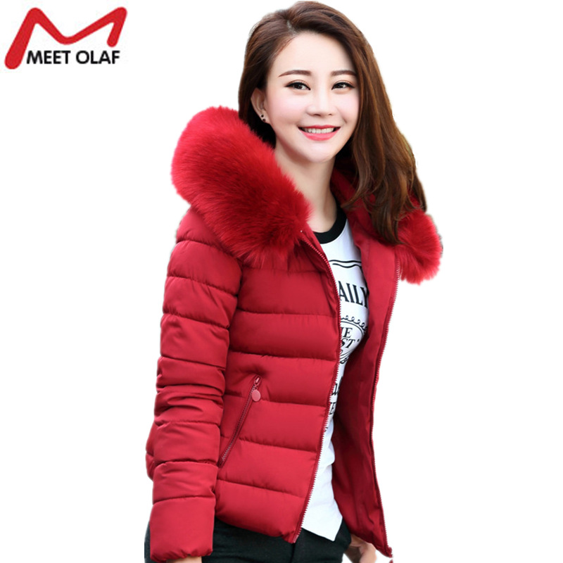 Plus Size 5XL Middle aged Women Winter Coat Jacket Hoodie Faux Fur Collar Cotton Padded Female