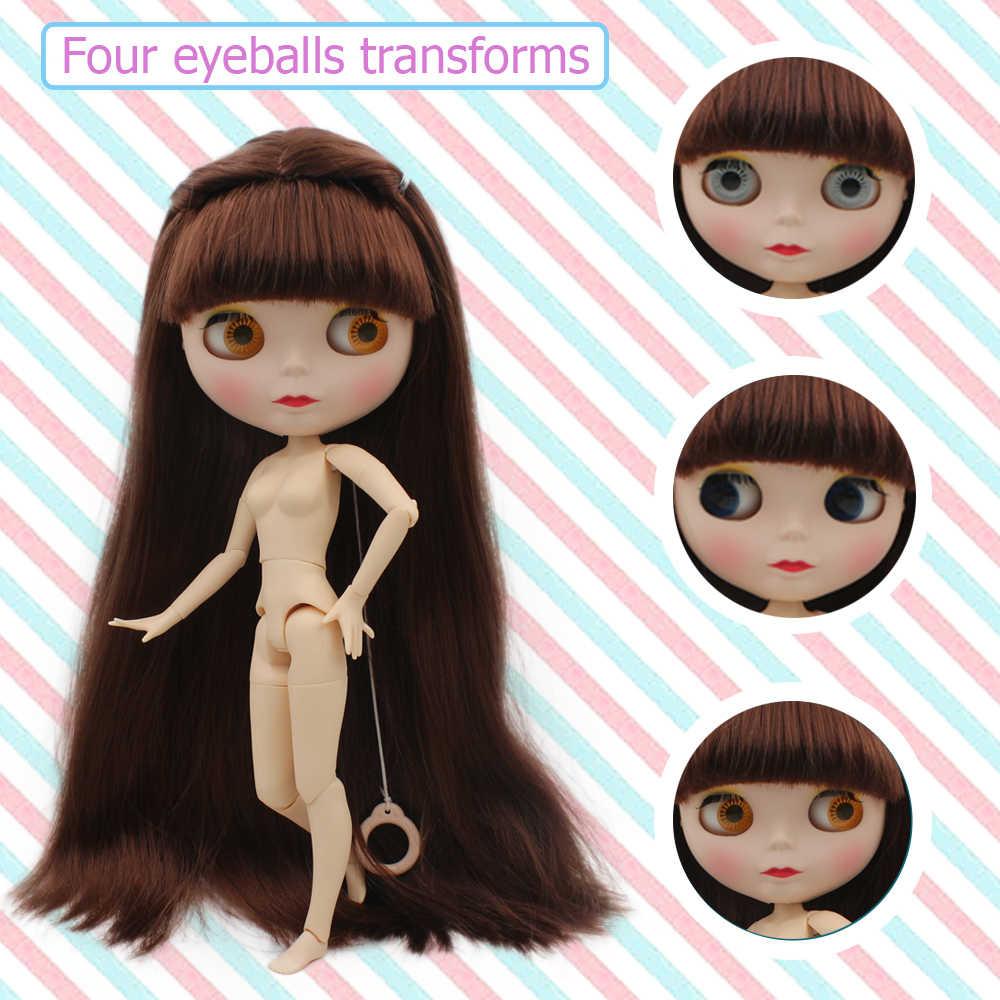 Blyth poupée BJD, néo Blyth poupée nue personnalisée dépoli visage poupées peuvent changer de maquillage et robe bricolage, 1/6 balle articulée poupées SNO7