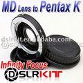 Minolta MD Lente para PENTAX Adaptador de Montagem Foco Infinito