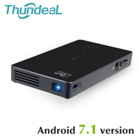 ThundeaL T18S Mini DLP Projector Android 7 1 Smart HD Projector WIFI Bluetooth Battery HDMI USB