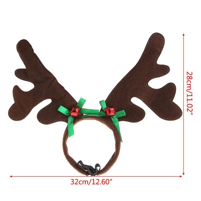 Christmas Pet Headband Deer Horn Hat Costume Dog Puppy Cat Cosplay Party Product Nov-11A 4