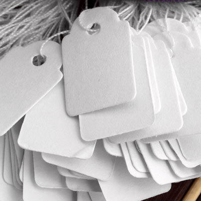 Hot New 1Pack(about 500pcs) Paper Tags Price Display Price Labels Pricing Tags With Strings