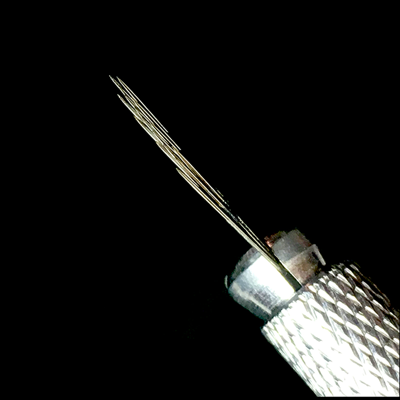 50 pcs 3 Rows 16 Microblading Needle Permanent Makeup Eyebrow Blades Manual Pen 3D Embroidery Tattoo Needles Microblade in Tattoo Needles from Beauty Health