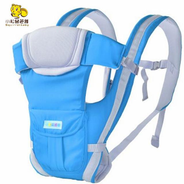 Respirável Multifuncional Frente Virada Baby Carrier Infantil Confortável Sling Backpack Envoltório Bolsa Canguru Do Bebê para 2-24 meses