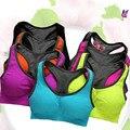 Bodybuilding Halter Crop Tops Bra Fitness Women Underwear Brassiere Workout Girl Bralette Seamless Wireless Push Up Padded Bras