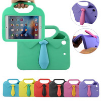 3D Cute Neckcloth Shirt EVA Shockproof Case For IPad Mini 1 2 3 Kids Children Protector