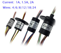Free Shipping Conductive Slip Ring Collecting Ring 4/6/8/12/18/24 Wires 1/1.5/2A Diameter 8.5/12.5/15.5/22mm