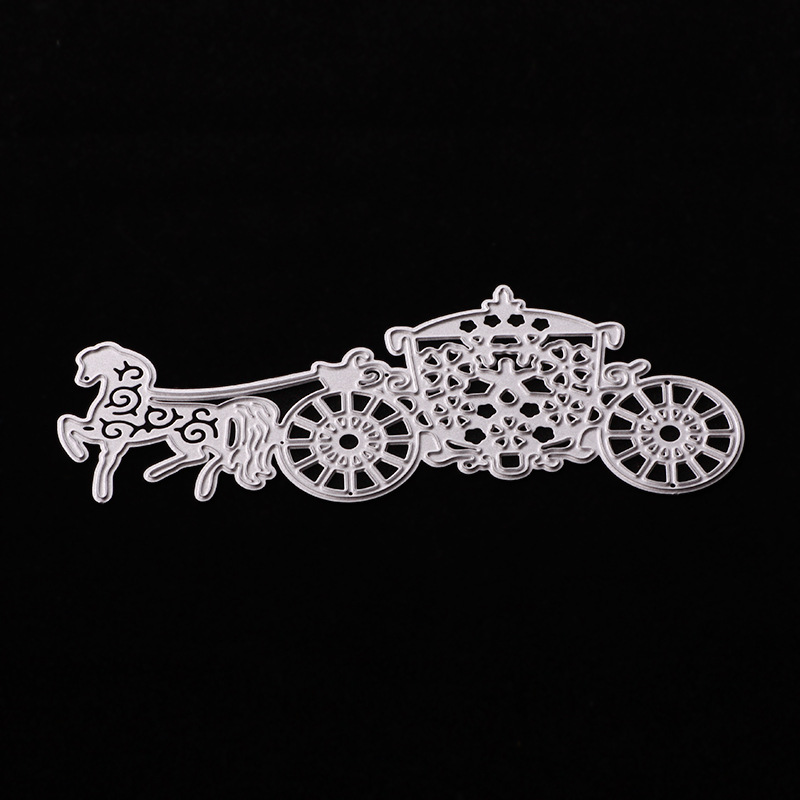 2018 New Girl 3D DIY Metal Cutting Dies and Scrapbooking For Paper Making Animal Horse Embossing Stamps Frame Card Craft