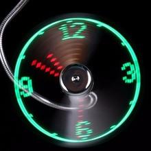 Landas Adjustable USB Gadget Portable Fan Mini Flexible LED Light Fans Time Clock Desktop Cooler Office Gadgets