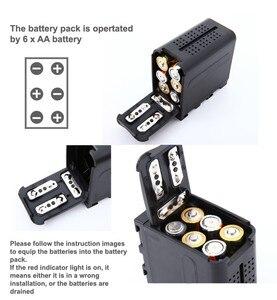 Image 4 - Falcon oczy 6 sztuk baterii AA pakiet przypadku wymiana zasilania jak NP F970 dla Led lampa wideo panelu lub Moniter tworzenia kopii zapasowych baterii